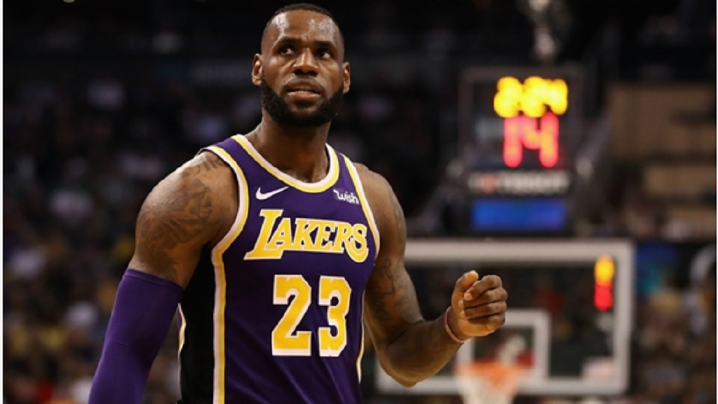 Los Angeles Lakers superstar LeBron James.