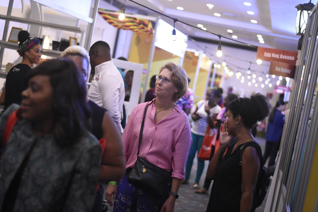 A Jamaican-Made Christmas, in its fourth year, was virtually free for all involved, with attendees asked to pay $1,200 for entry fee, but got two $500 vouchers to use at any booth, with the remaining $200 for a tote bag as an alternative to plastic bags. (Photo) Marlon Reid)