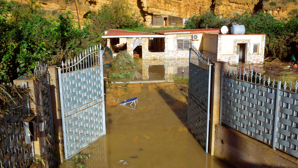 A view of the flooded house where nine people lost their lives in Casteldaccia, near Palermo, Italy. (Mike Palazzotto/ANSA via AP)