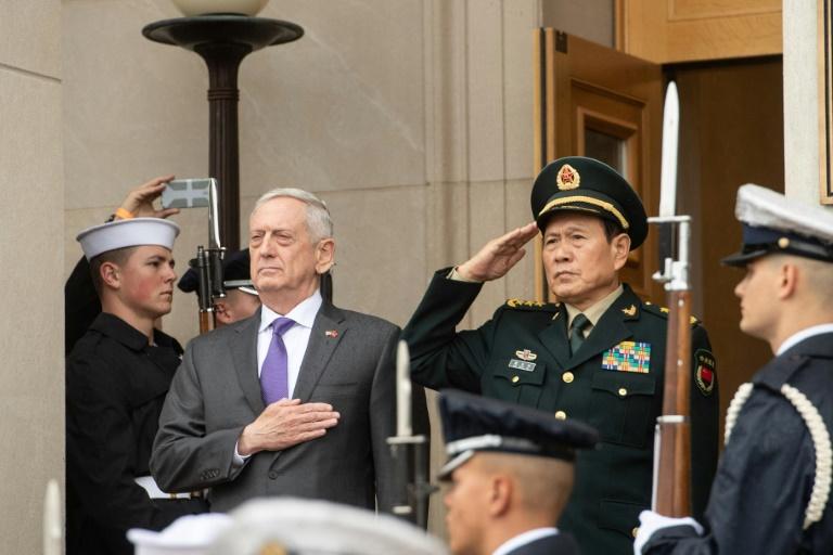 Mike Pompeo et Yang Jiechi à Washington le 9 novembre 2018