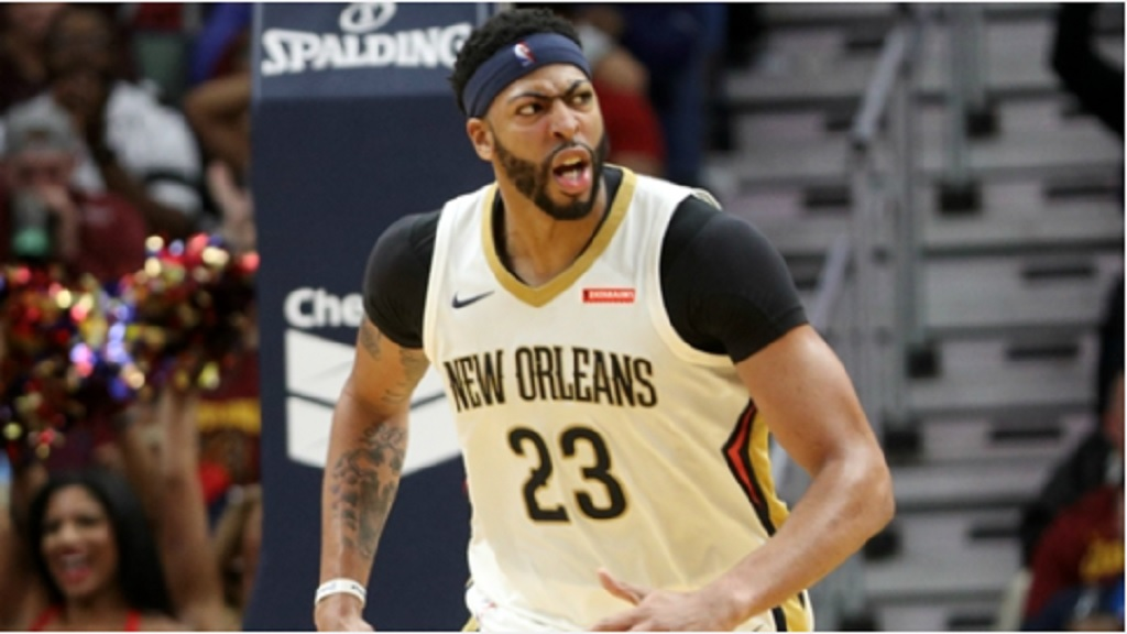 All-star Anthony Davis of New Orleans Pelicans.