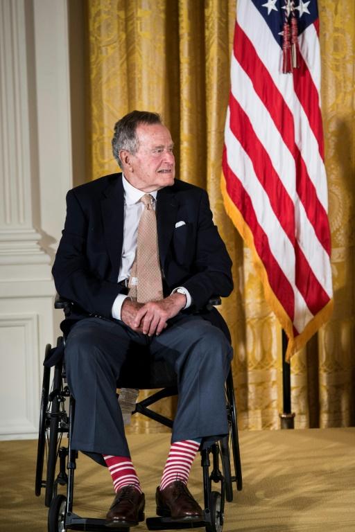Le président George H.W. Bush, le 5 août 1992 à Reno (Nevada)