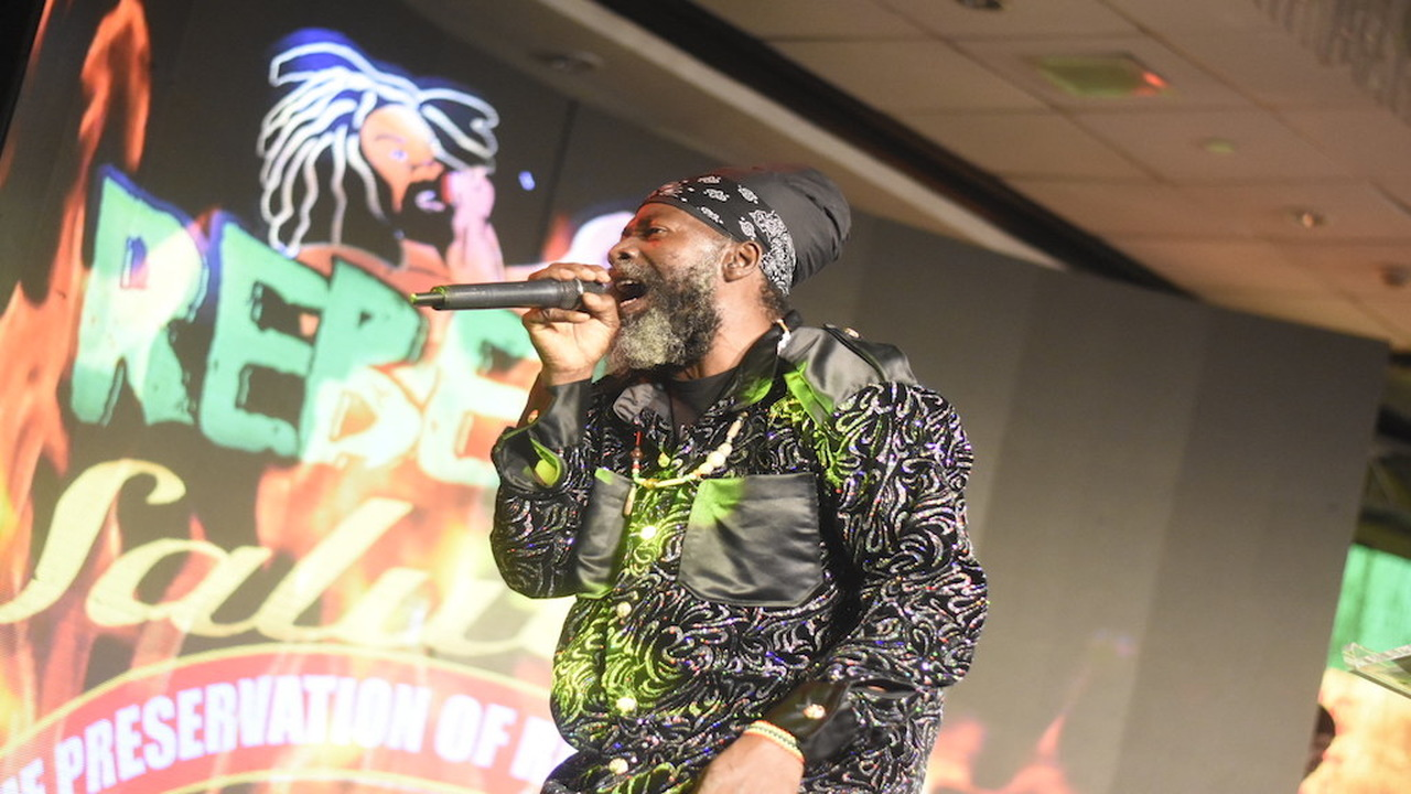 Capleton performs at the launch of Rebel Salute 2019. (PHOTOS: Marlon Reid)