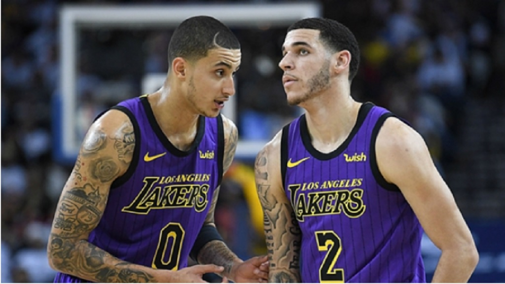 Kyle Kuzma and  Lonzo Ball.