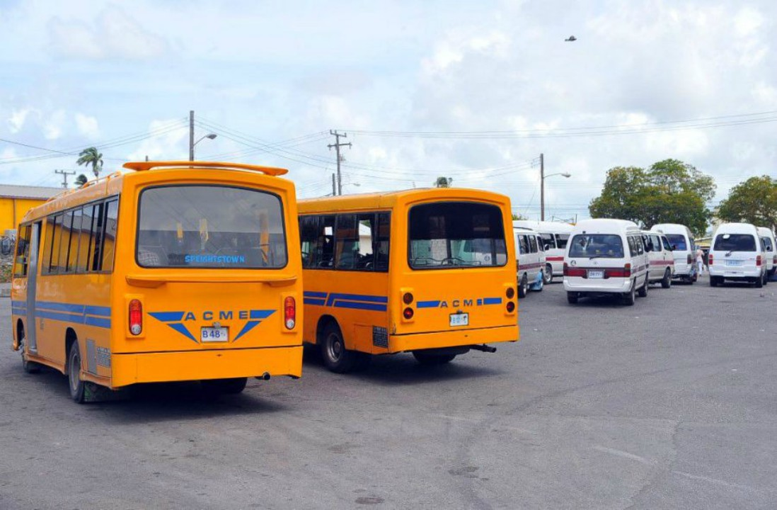Public service vehicles parked in the Constitution River Terminal (FILE)
