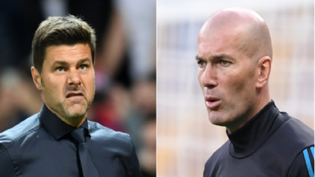 Mauricio Pochettino and Zinedine Zidane.