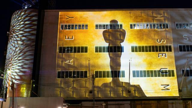 Une vue, prise le 4 décembre 2018, de la façade du bâtiment qui abritera le musée de l'Académie du cinéma [VALERIE MACON / AFP/Archives]