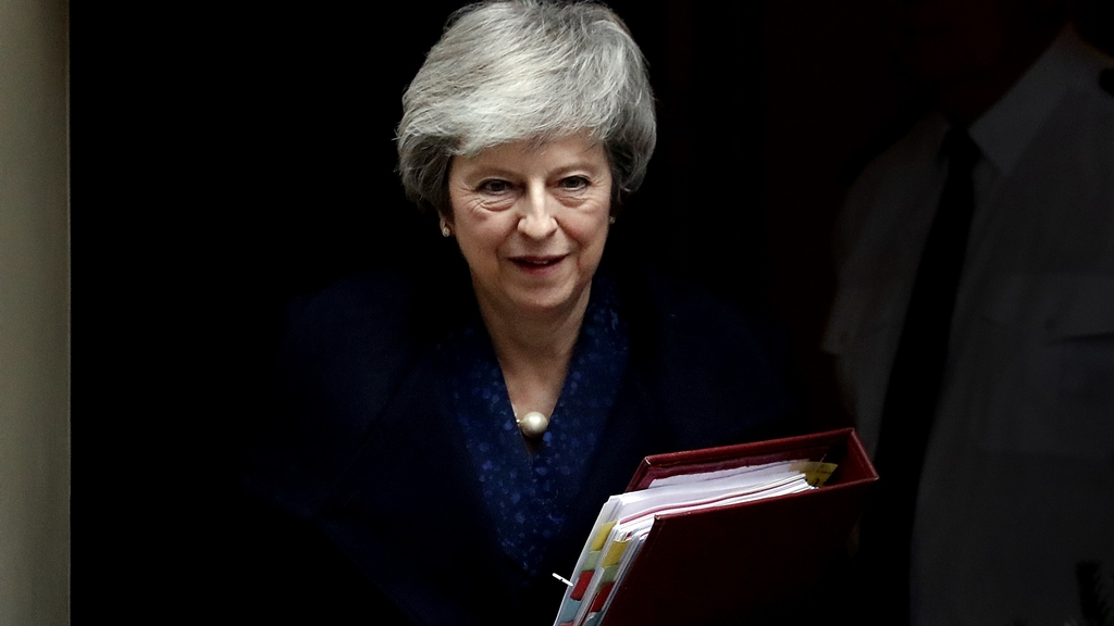 "May said she was ""pleased to have received the backing of my colleagues"" but acknowledged that ""a significant number"" had voted against her in Wednesday evening's secret ballot. (AP Photo)"