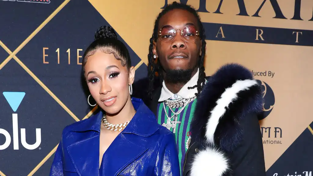 In this Feb. 3, 2018, file photo, Cardi B, left, and Offset arrive at the Maxim Super Bowl Party at the Maxim Dome in Minneapolis. (Photo by Omar Vega/Invision/AP, File)