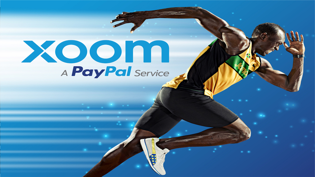 Usain Bolt, Xoom global brand ambassador, in a promotional poster. (Graphic: Business Wire)