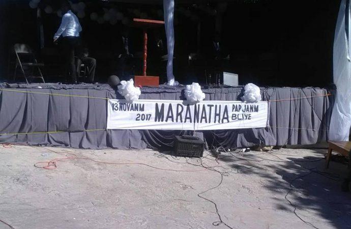Photo : Illustration de commémoration dans l'enceinte du Collège Evangélique Maranatha.