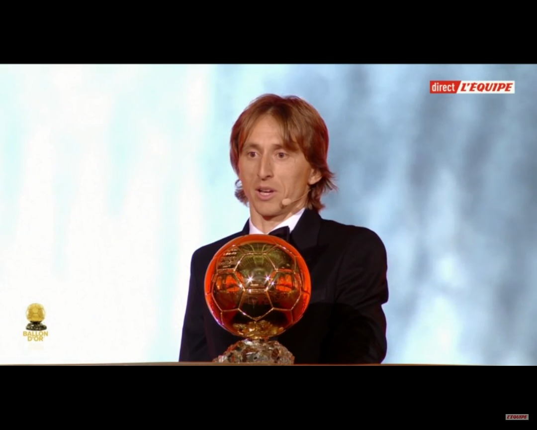 Luka Modric, Ballon d'or 2018/ Capture d'écran