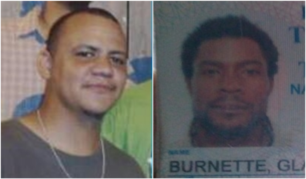 Jason Nunes (Left) and Glaston Burnette (Right) are missing