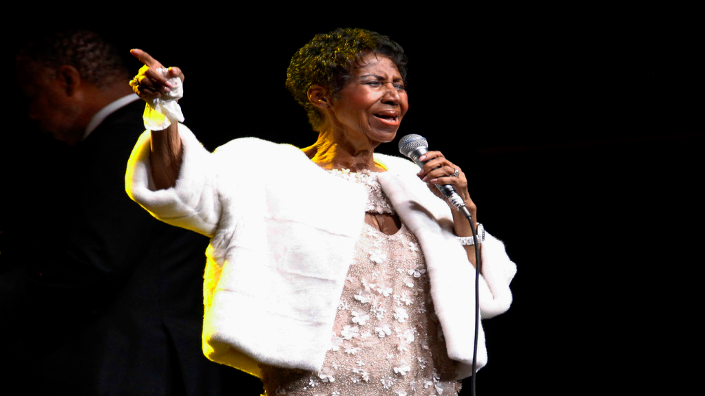 FILE - In this Nov. 7, 2017 file photo, Aretha Franklin attends the Elton John AIDS Foundation's 25th Anniversary Gala in New York. (Photo by Andy Kropa/Invision/AP, File)