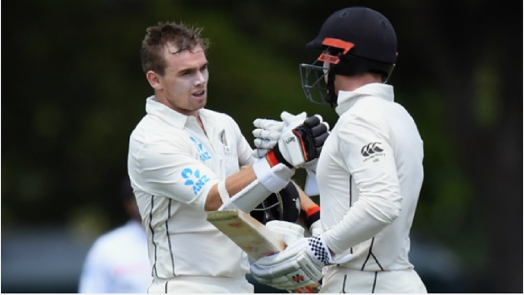 New Zealand batsmen Tom Latham and Henry Nicholls.