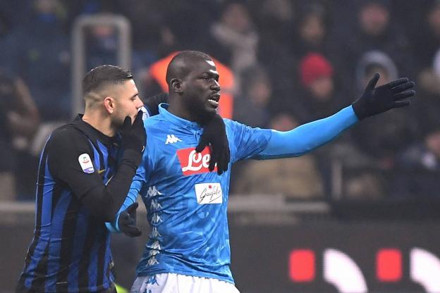 Des cris racistes répétés à l'encontre du défenseur sénégalais Kalidou Koulibaly ont été enregistrés lors du dernier Inter-Naples.