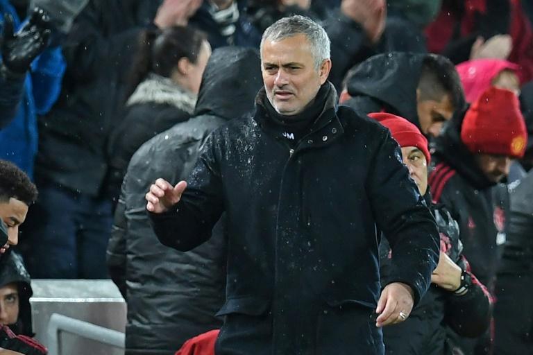 L'entraîneur de Manchester United José Mourinho lors du match face à Liverpool le 16 décembre 2018
