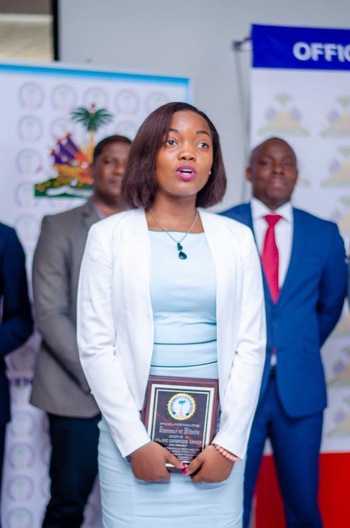 La nouvelle ambassadrice de l'OPC. Crédit Photo: Lawens Josma