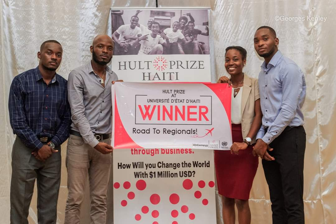 L'équipe Green-Eco Plus remporte la phase On Campus de Hult Prize UEH