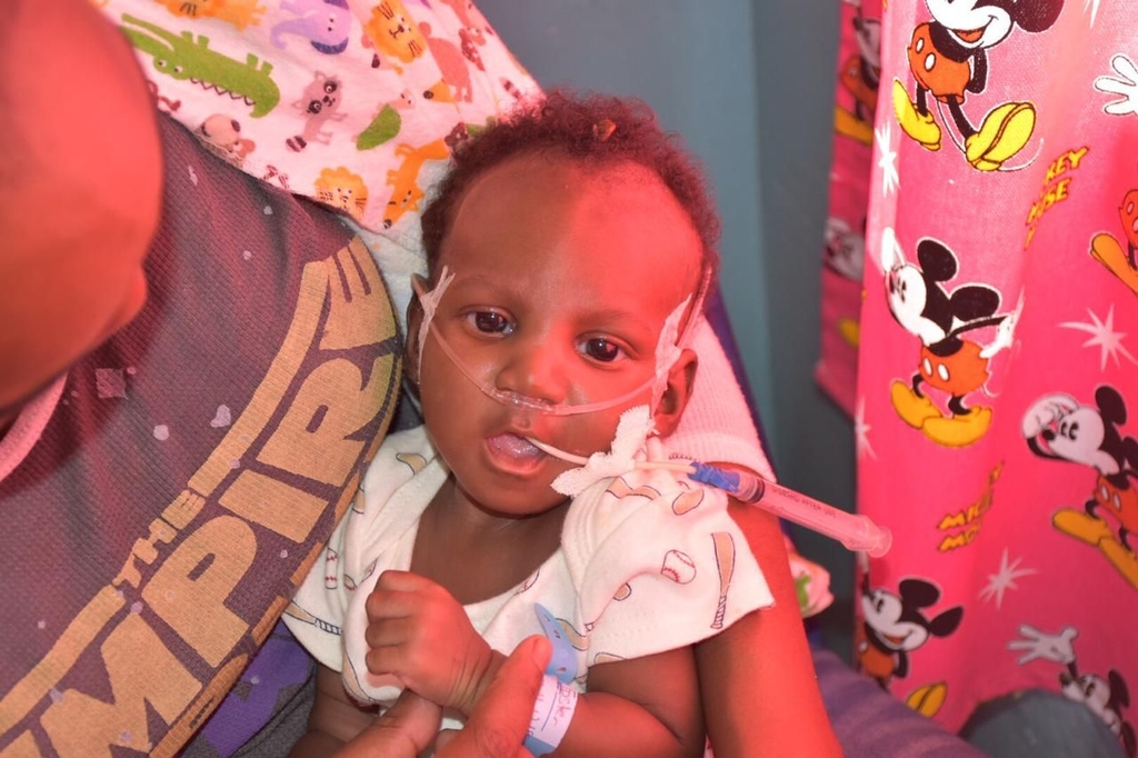 Two-month-old old Damani Foster urgently needs blood to undergo a cardiac surgery.