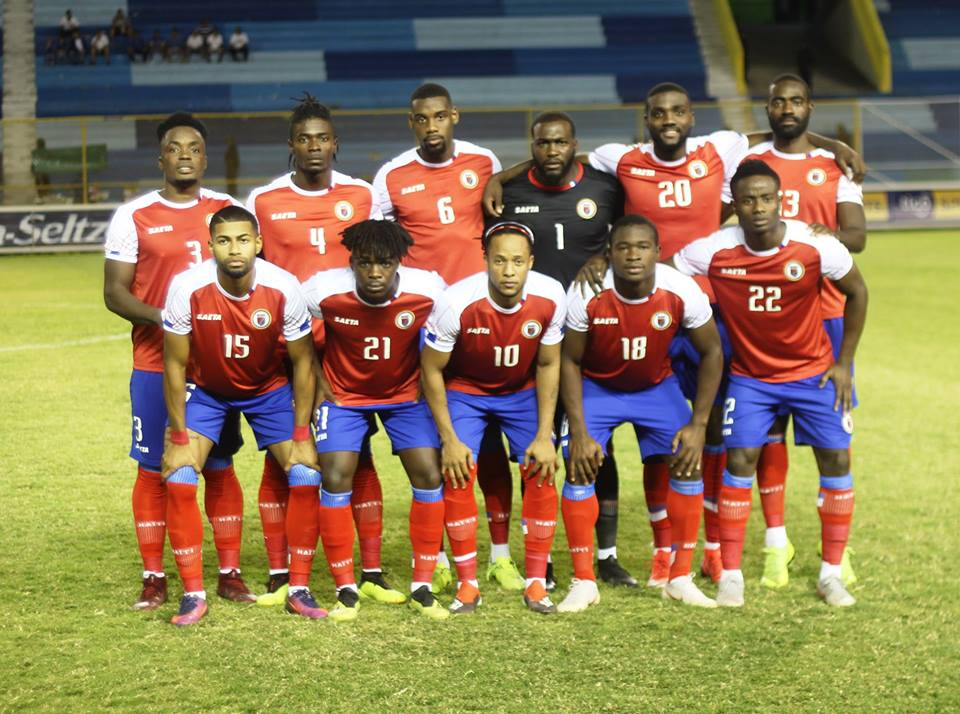 La sélection haïtienne de Football qui a disputé le match contre le Salvador. Photo: FHF