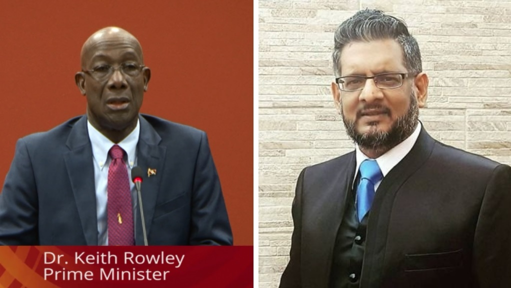 Photo L-R: Prime Minister Dr Keith Rowley and former minister and opposition member, Devant Maharaj. Dr Rowley accused Maharaj of lying to the public after Maharaj said he would share Dr Rowley's new number, however Dr Rowley said he has not been issued a new number as yet.