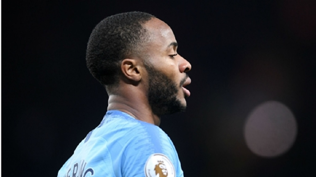 Manchester City striker Raheem Sterling.