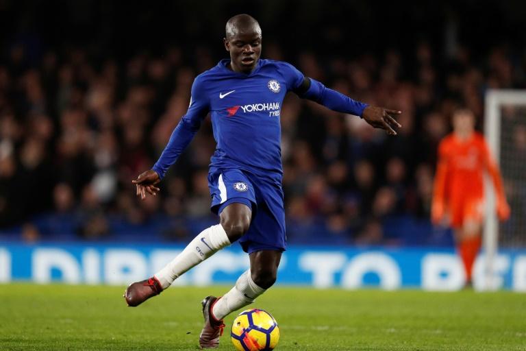 N'Golo Kanté avec Chelsea lors du derby londonien contre Crystal Palace à Stamford Bridge, le 10 mars 2018