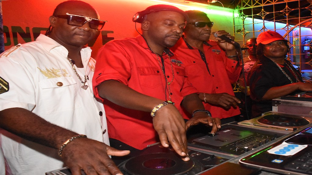 Stone Love Selectors; Billy Slaughter, Dwayne Pow, Wee Pow and Geefus on the wheels of Steel during the launch of Stone Love Anniversary Dance Party to be held on Saturday December 29 at Sabina Park. The Launch was held on Wednesday December 19 at Stone Love HQ.