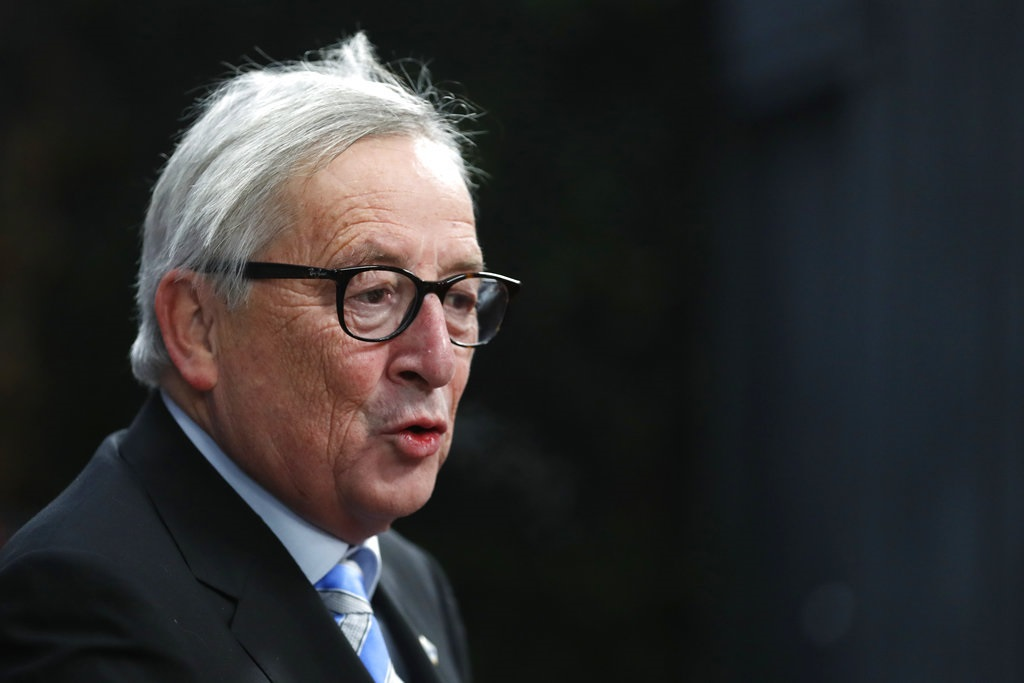 European Commission President Jean-Claude Juncker arrives for an EU summit in Brussels, Friday, Dec. 14, 2018. European Union leaders have offered Theresa May sympathy but no promises, as the British prime minister seeks a lifeline that could help her sell her Brexit divorce deal to a hostile U.K. Parliament. (AP Photo/Alastair Grant, Pool)