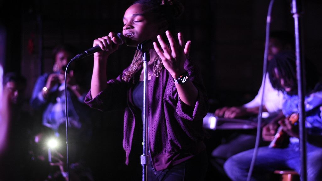 Koffee performing at Live From Kingston at Skyline Levels on Saturday. (PHOTOS: Marlon Reid)
