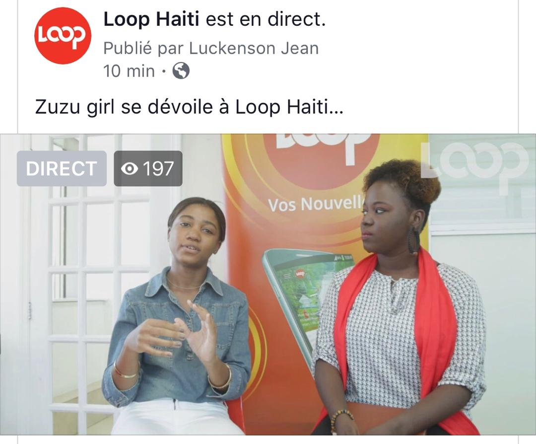 Rachilde Joseph dit Zuzu Girl. Caméra: Luckenson Jean, Interview: Darline Honoré