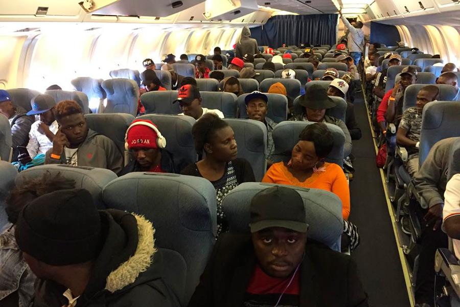 179 Haïtiens reviendront du Chili ce 16 décembre pour le troisième vol. Photo: La Tercera