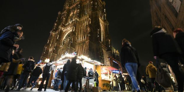 La fusillade a eu lieu dans le centre-ville de Strasbourg, à proximité du Marché de Noël. © SEBASTIEN BOZON / AFP
