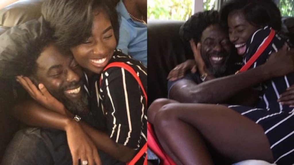 Buju Banton reunites with daughter, Abihail.