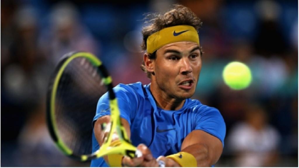 Rafael Nadal at the World Tennis Championship.