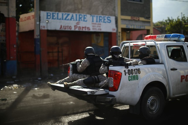 Une patrouille à Port-au-Prince.