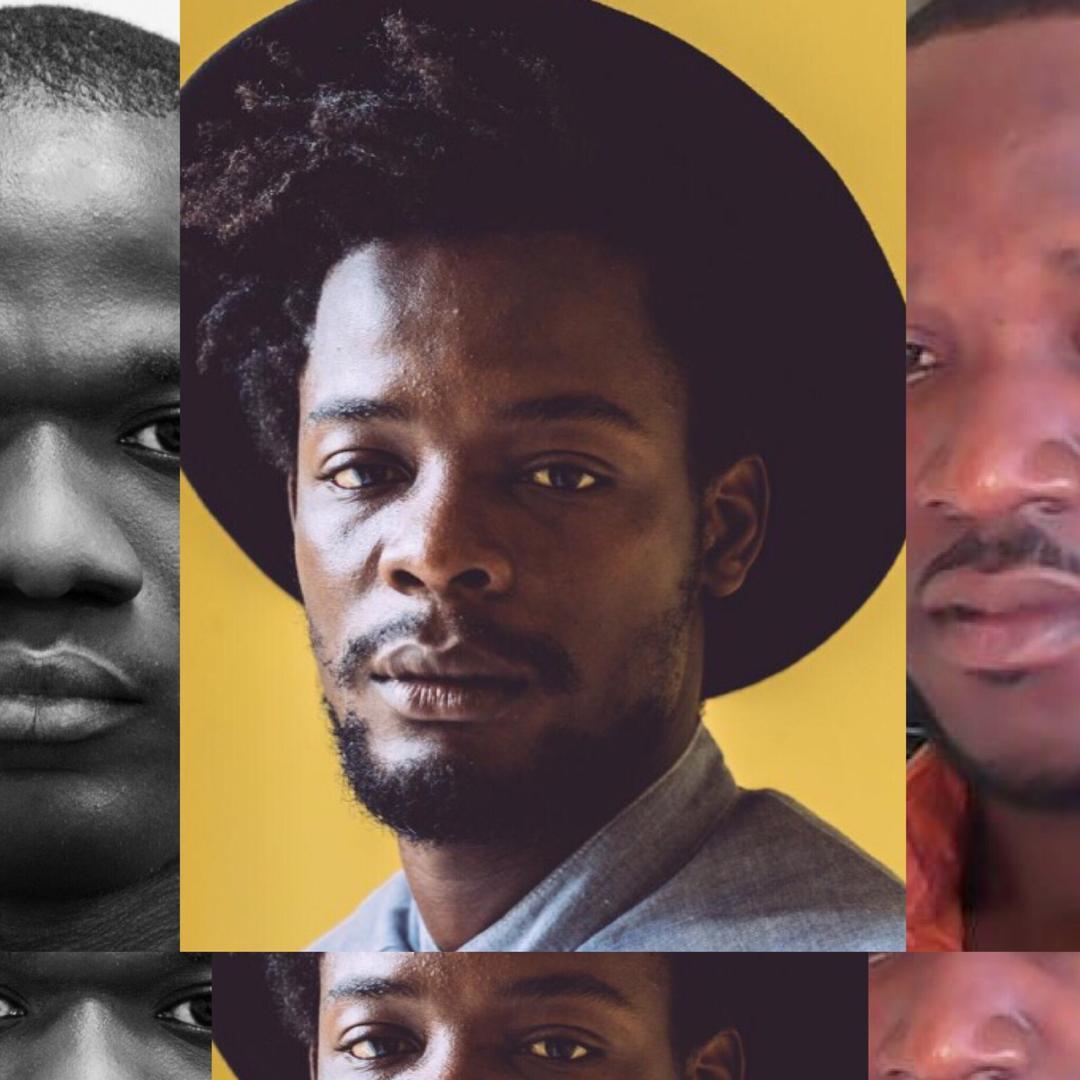 Collage/ Au milieu, Pierre Michel Jean, lauréat du Prix du Jeune Journaliste en Haiti/ A gauche, MIlo Milfort, 2e lauréat/ A droite, Mauryle Azaine, 3e gagnant