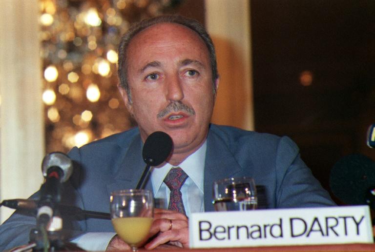 Bernard Darty, président du directoire du leader français dans la distribution d'électroménager, A paris le 05 mars 1988