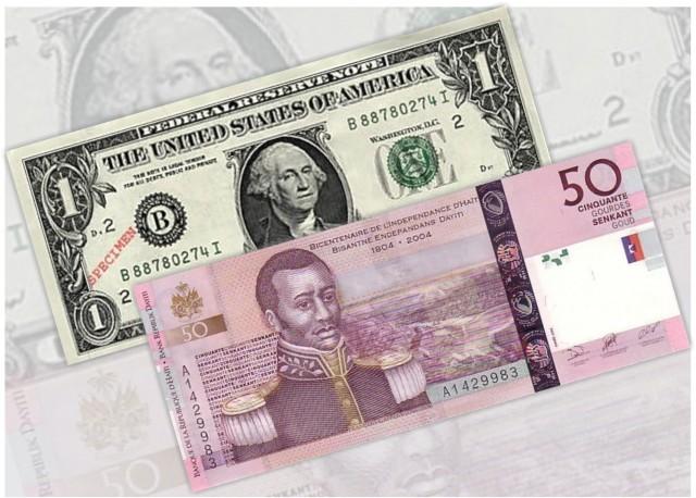 Illustration de la Gourde et du Dollar - Crédit Photo_ Haiti Connexion