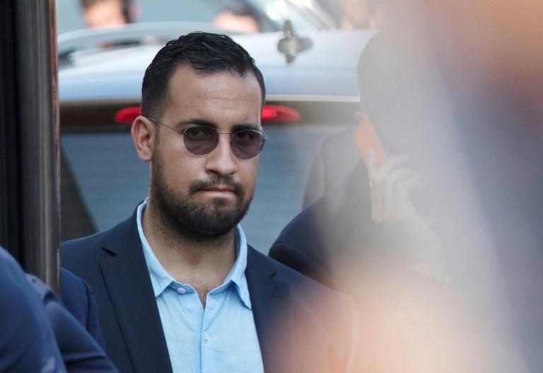 Alexandre Benalla, le 16 juillet 2018 à l'aéroport de Roissy
