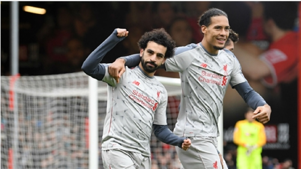 Liverpool's Mohamed Salah and Virgil van Dijk.