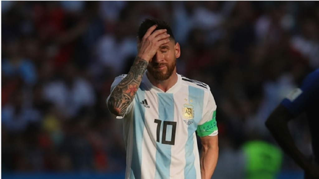 Lionel Messi after Argentina's elimination from World Cup 2018.