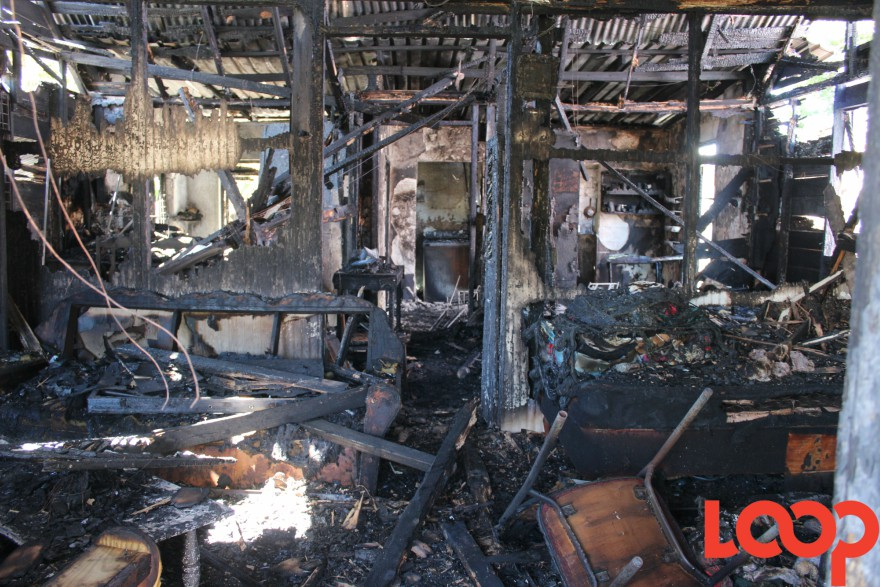 Fire destroyed a house in Harts Gap, Christ Church earlier this month.