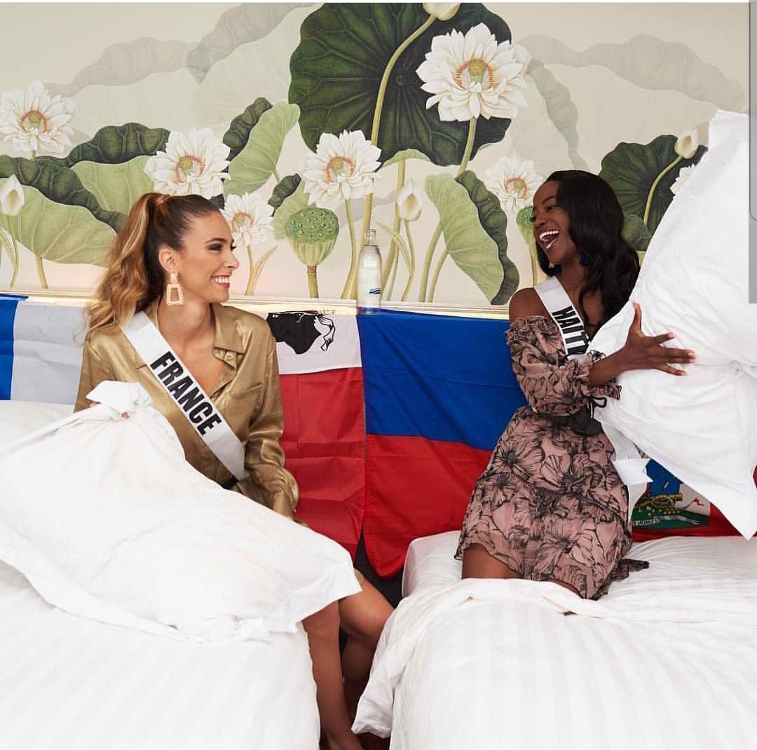 La Miss Haiti, Samantha Colas et la représentante de la France, Eva Colas / Photo: Instagram Samantha Colas