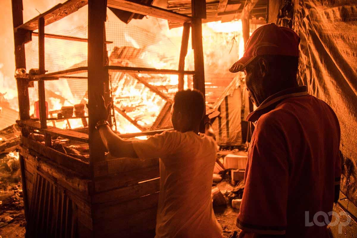 Cette photo sert d'illustration à l'article. Elle a été prise lors d'un incendie déclaré à un marché dans la zone métropolitaine de Port-au-Prince./Photo: Archives