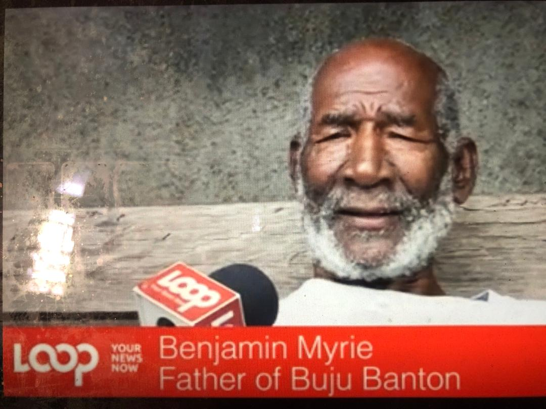 Benjamin Myrie, père de l'artiste Buju Banton/ Photo: Capture d'écran / Loop News