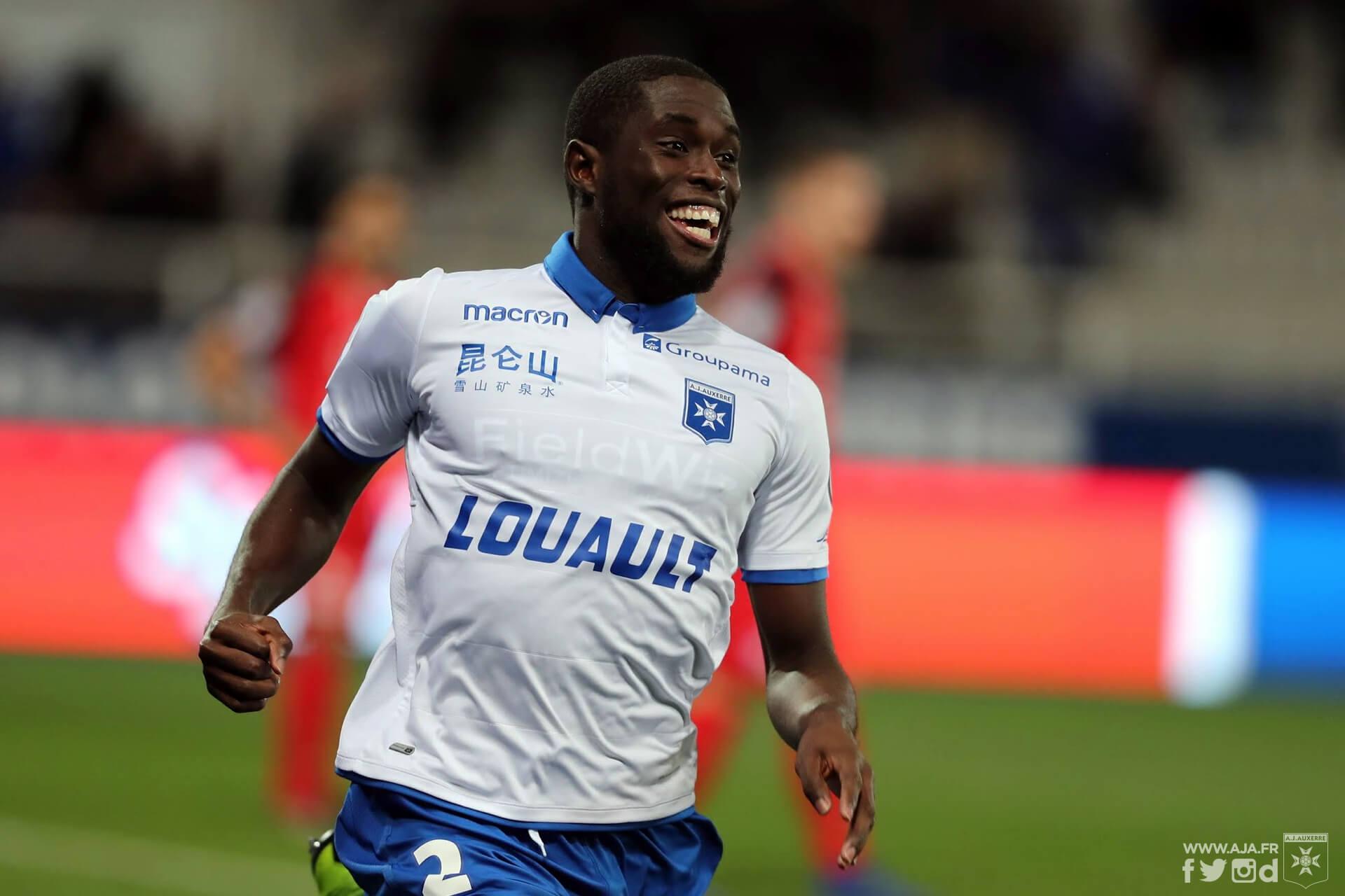 Le défenseur haïtien Carlens Arcus. Photo: AJ Auxerre