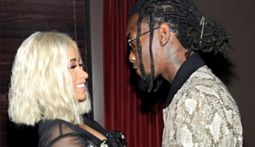 Offset and Cardi B back in April 2018. He shared this photo April 7, on his Twitter saying 'C A R D I A N D I L O O K F O R W A R D T O O U R N E X T C H A P T E R T O G E T H E R'.