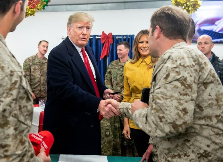 Donald Trump sur la base aérienne d'Al-Assad en Irak